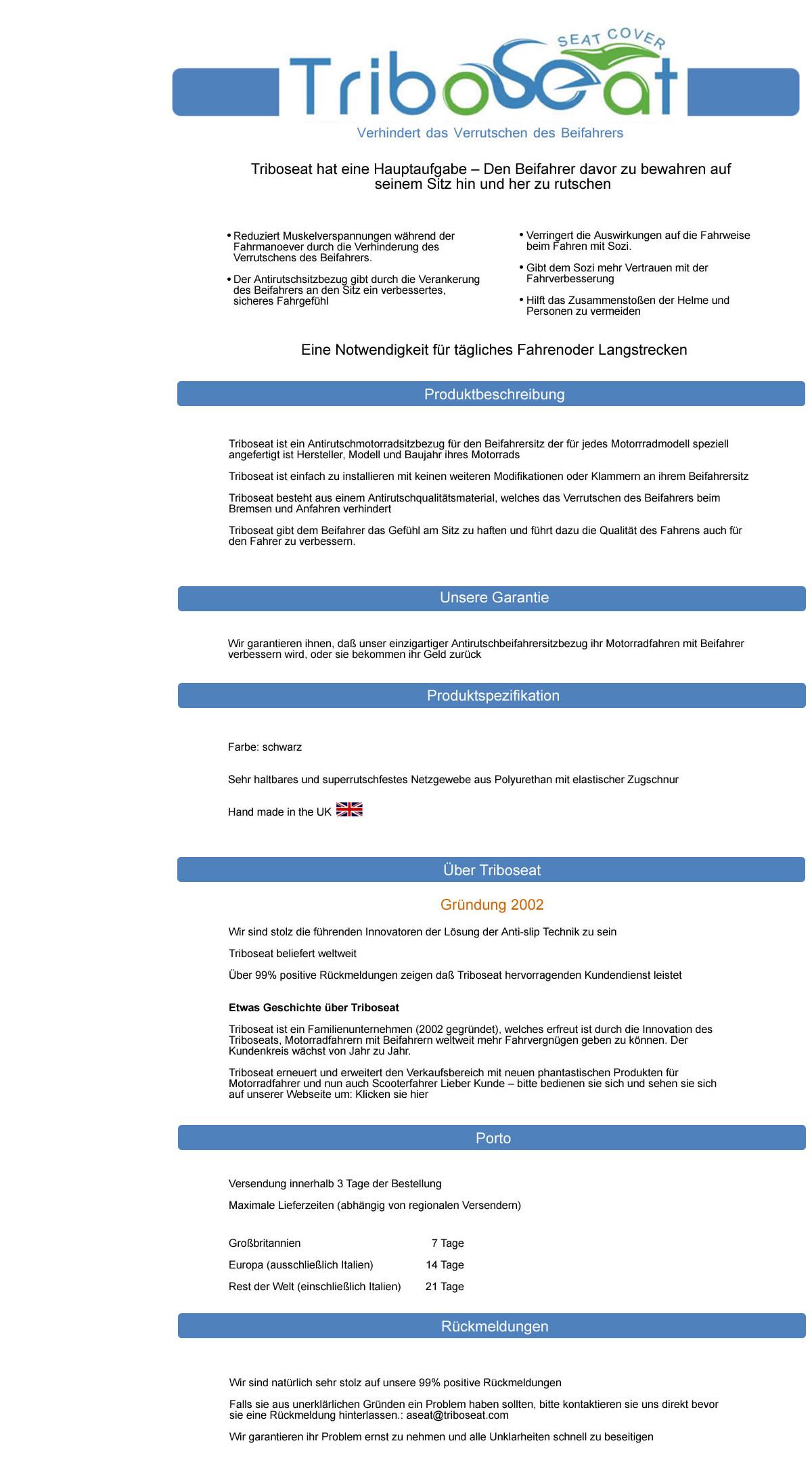 YAMAHA TRX 850 1996-2000 TRIBOSEAT ANTI-RUTSCH BEIFAHRERSITZBEZUG